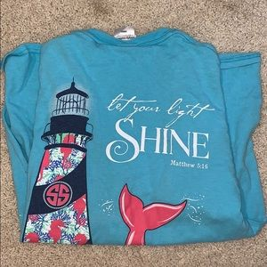 blue simply southern graphic t shirt